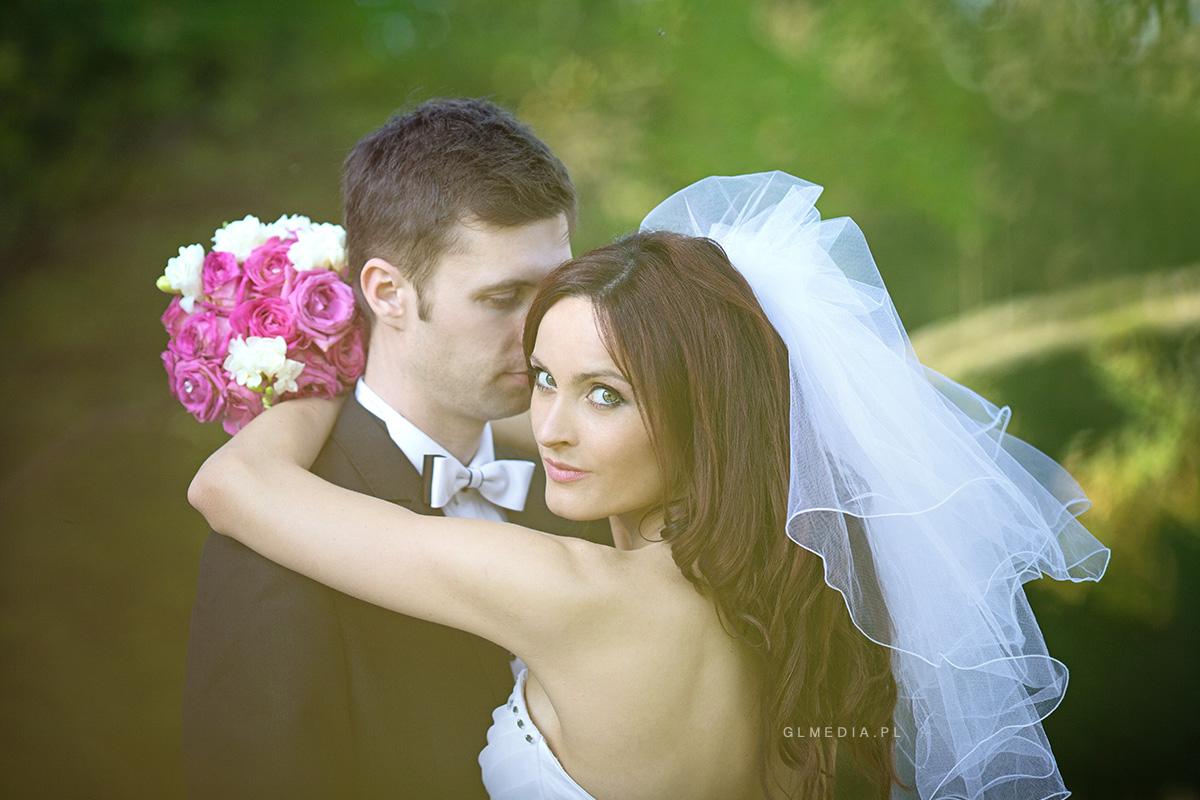 Planer ślubny portret z bukietem