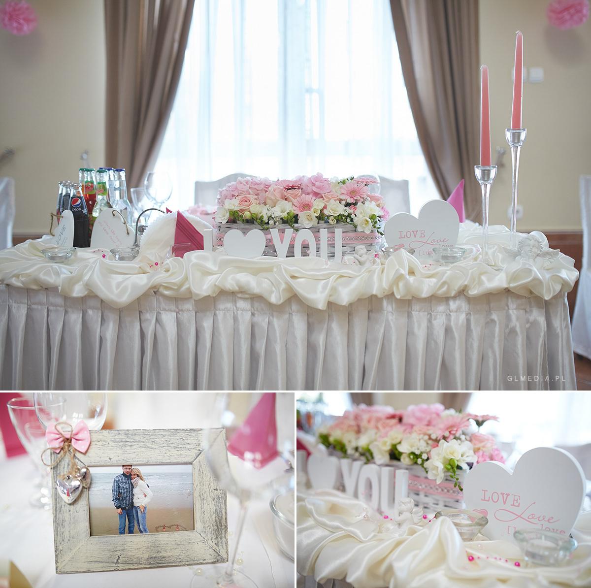 stół weselny dekoracja