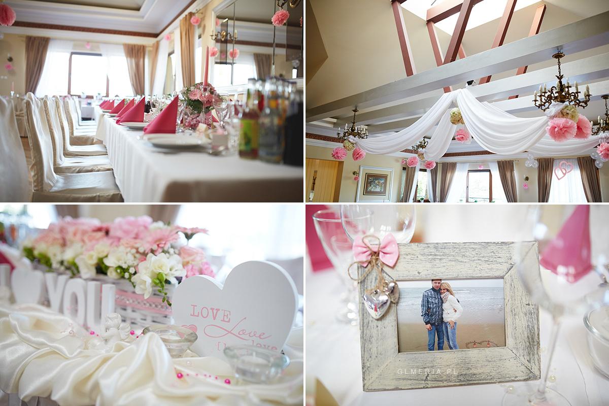 Hotel pod Skałą przygotowanie sali weselnej