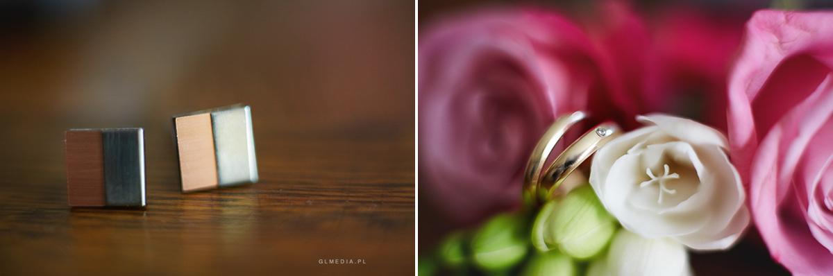 przygotowania ślubne detal spinki i obrączki ślubne