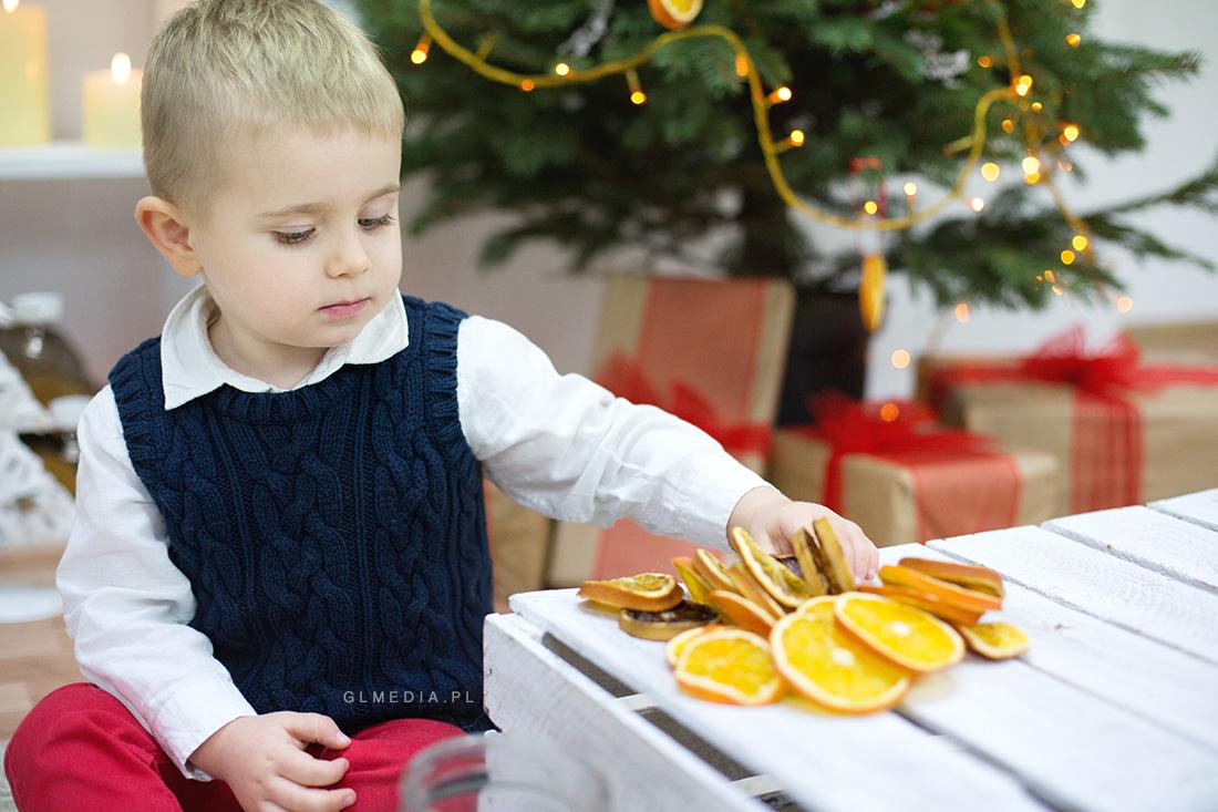 sesja świąteczna suszone pomarańcze