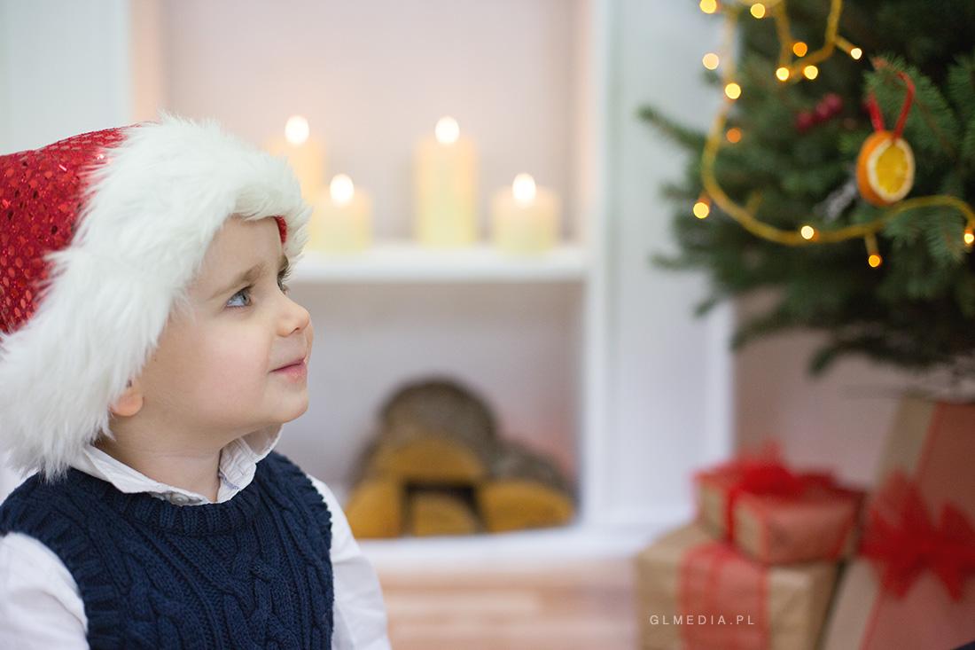 sesja świąteczna czapka mikołaja