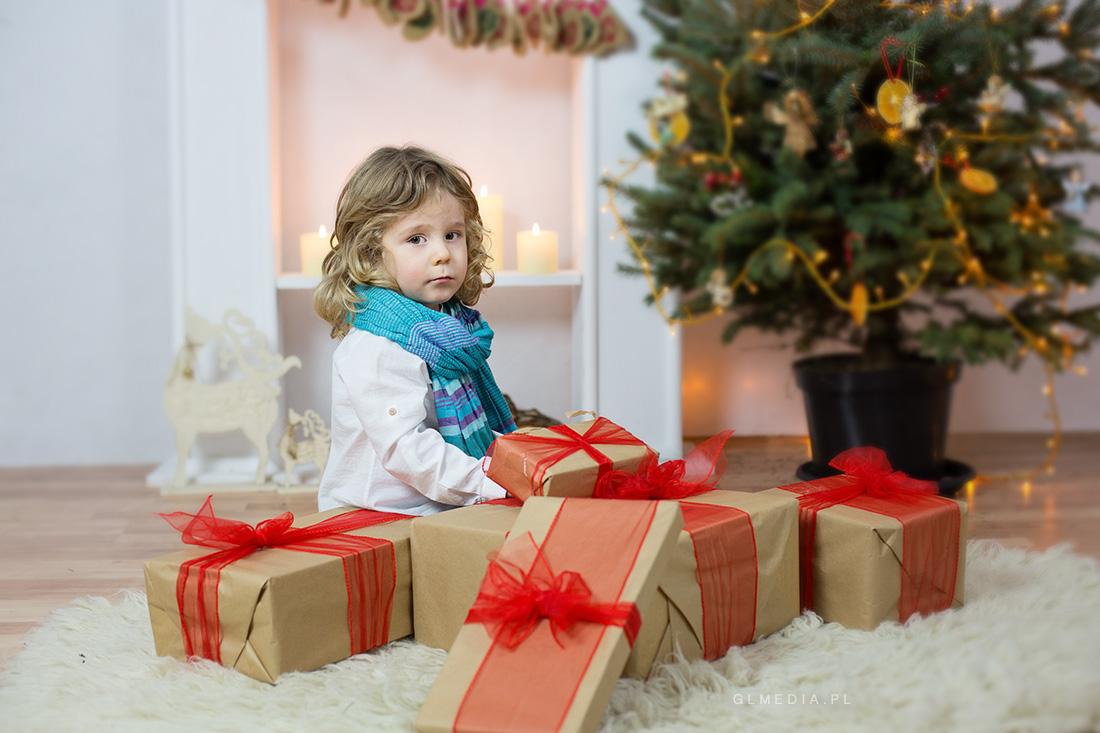 prezenty świąteczne sesja zdjęciowa
