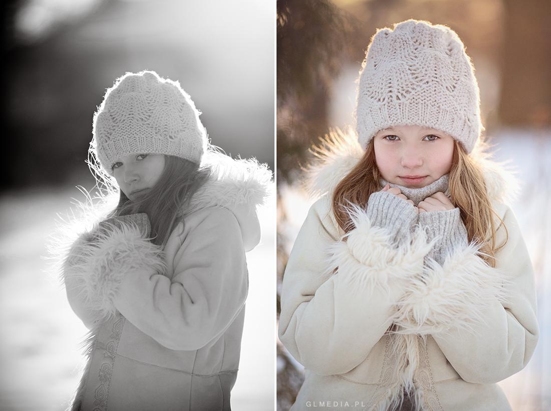 Zdjęcie portretowe w plenerze zimowe