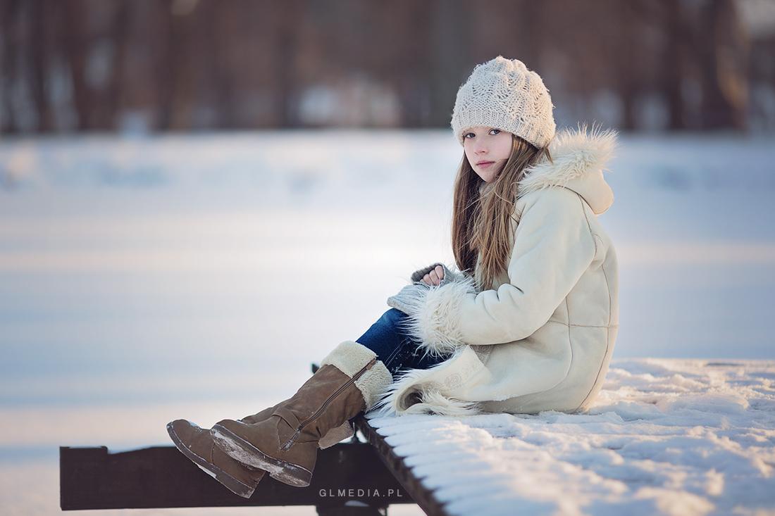 zimowe plener nad jeziorem