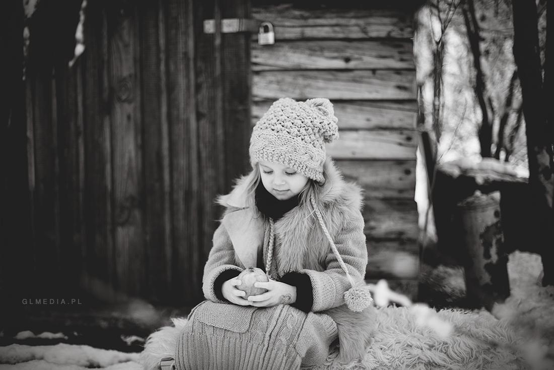 sesja zdjęciowa bw zima