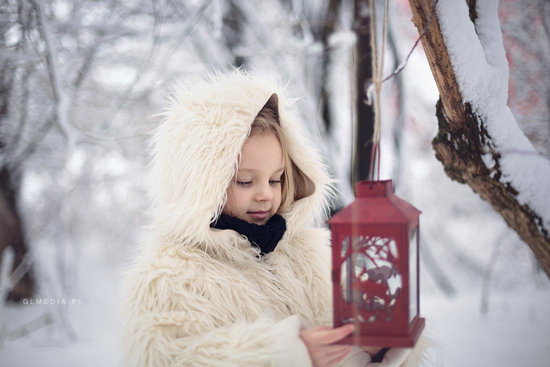 zimowy portret lampa