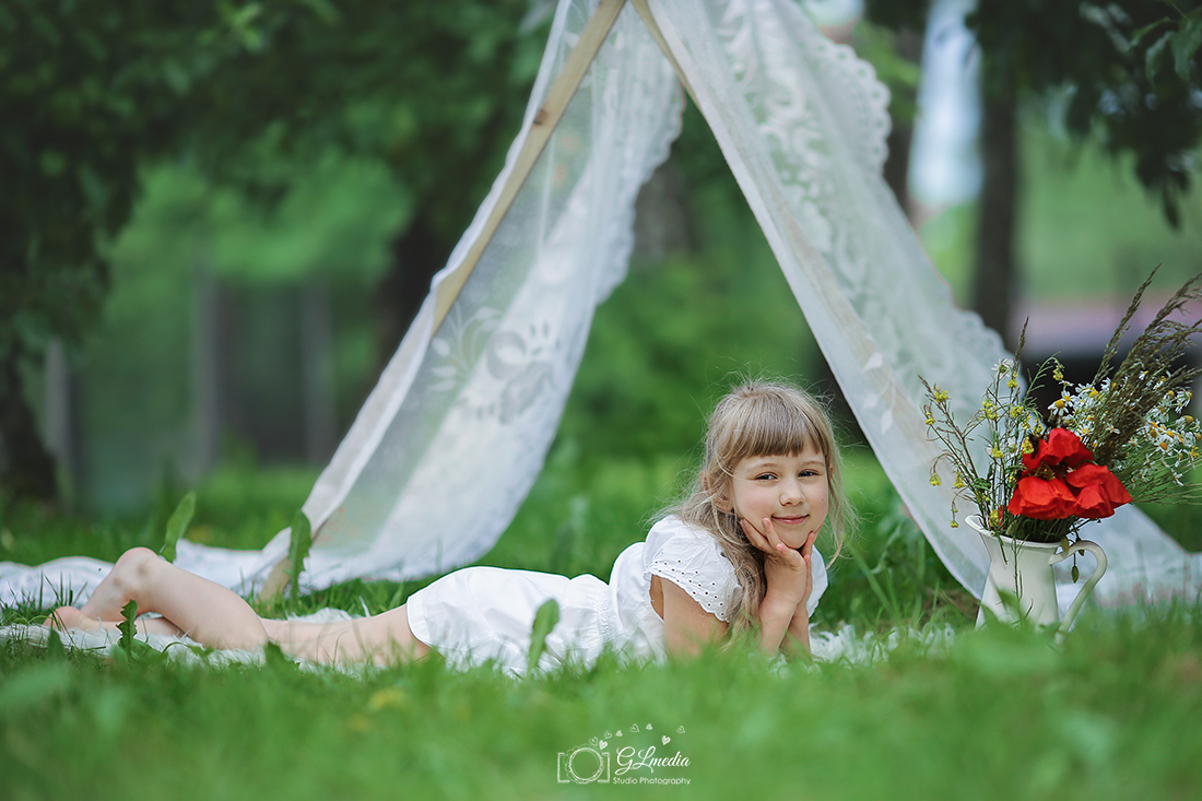 Letnie sesje w namiocie