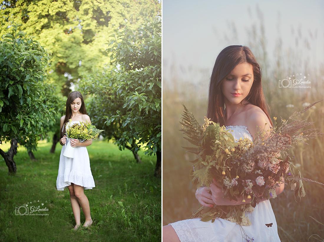Letnie sesje polne kwiaty