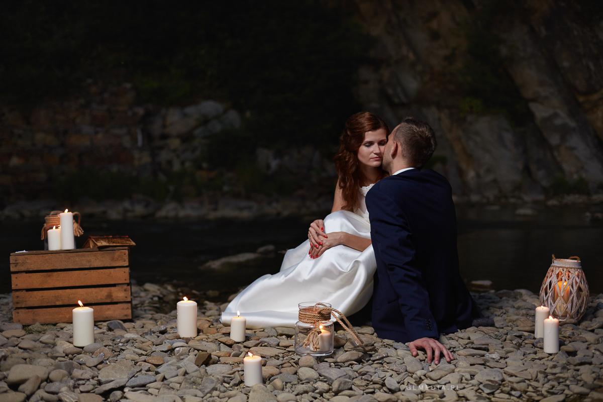 plener ślubny świece