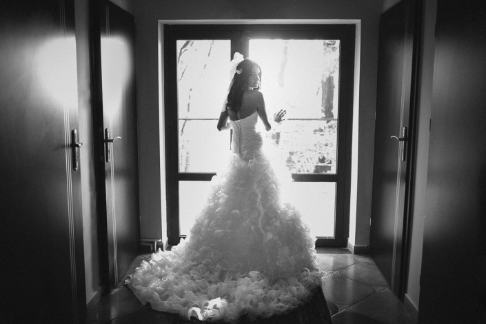 Piękna suknia ślubna przygotowania