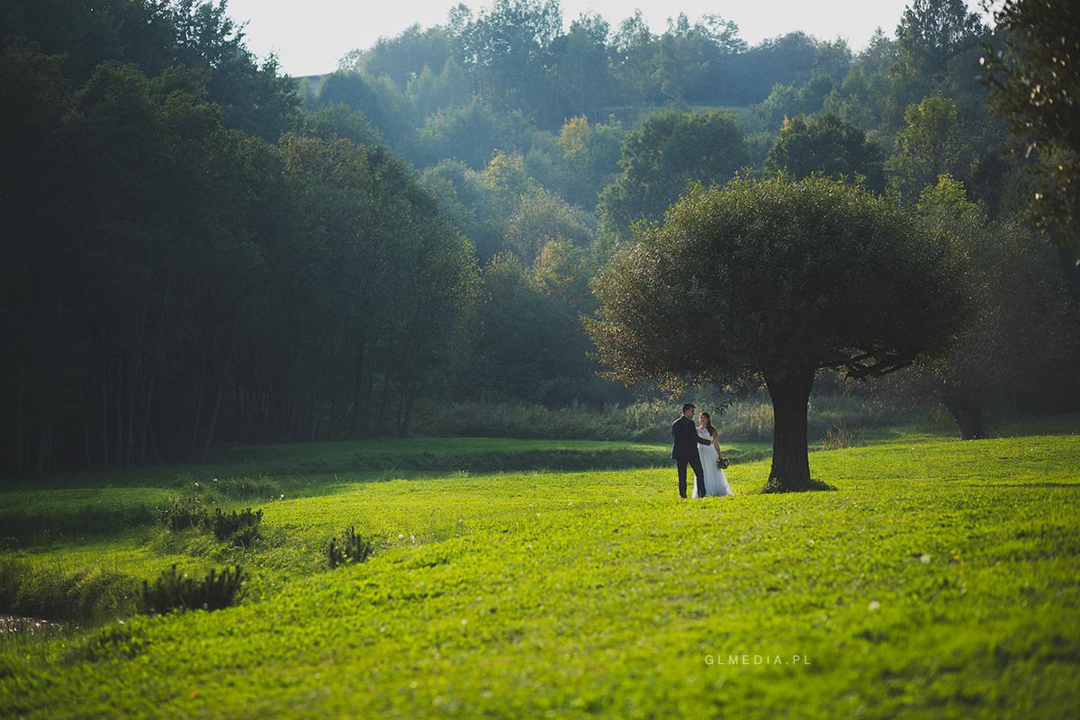 Plener ślubny w winnicy Podkarpacie szeroko