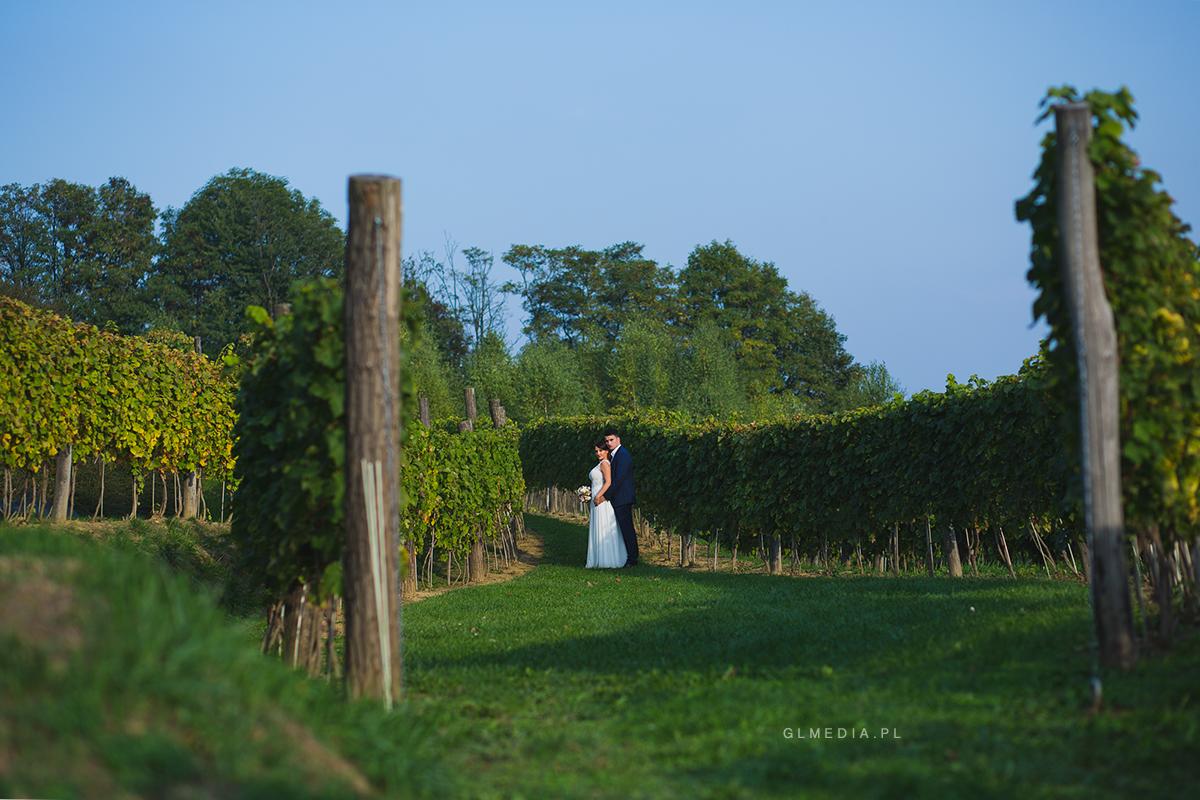 winnica Jasiel plener ślubny